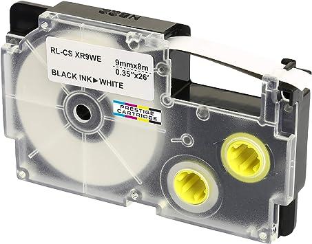 KL-7400 DRUCKER SCHRIFTBAND KASSETTE 9mm WEIß-SCHWARZ für CASIO KL-820