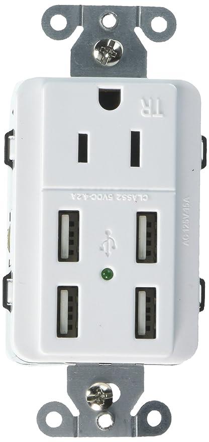 Amazon.com: UL Listed u-socket Ace 9105 15-amp AC Wall ...