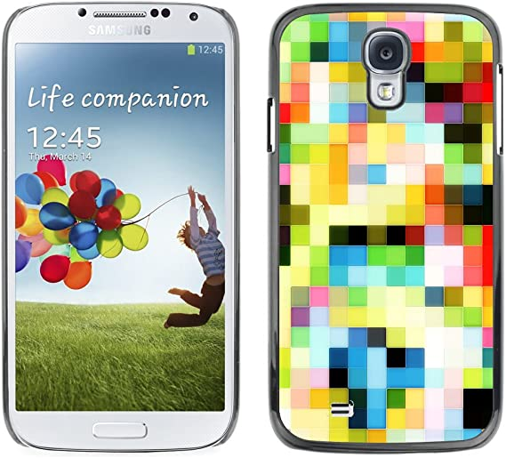 Koko Case Samsung Galaxy S4 I9500 Pattern Old Tv Colorful Squares Wallpaper Slim Black Plastic Case Cover Shell Armor Amazon Ca Cell Phones Accessories