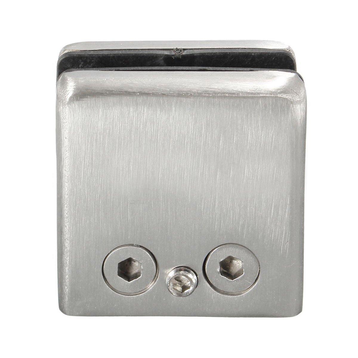Sostenedor de abrazadera - TOOGOO(R)4 piezas sostenedor de abrazadera clip de soporte de acero inoxidable para el estante de vidrio plata SPHAGT59261