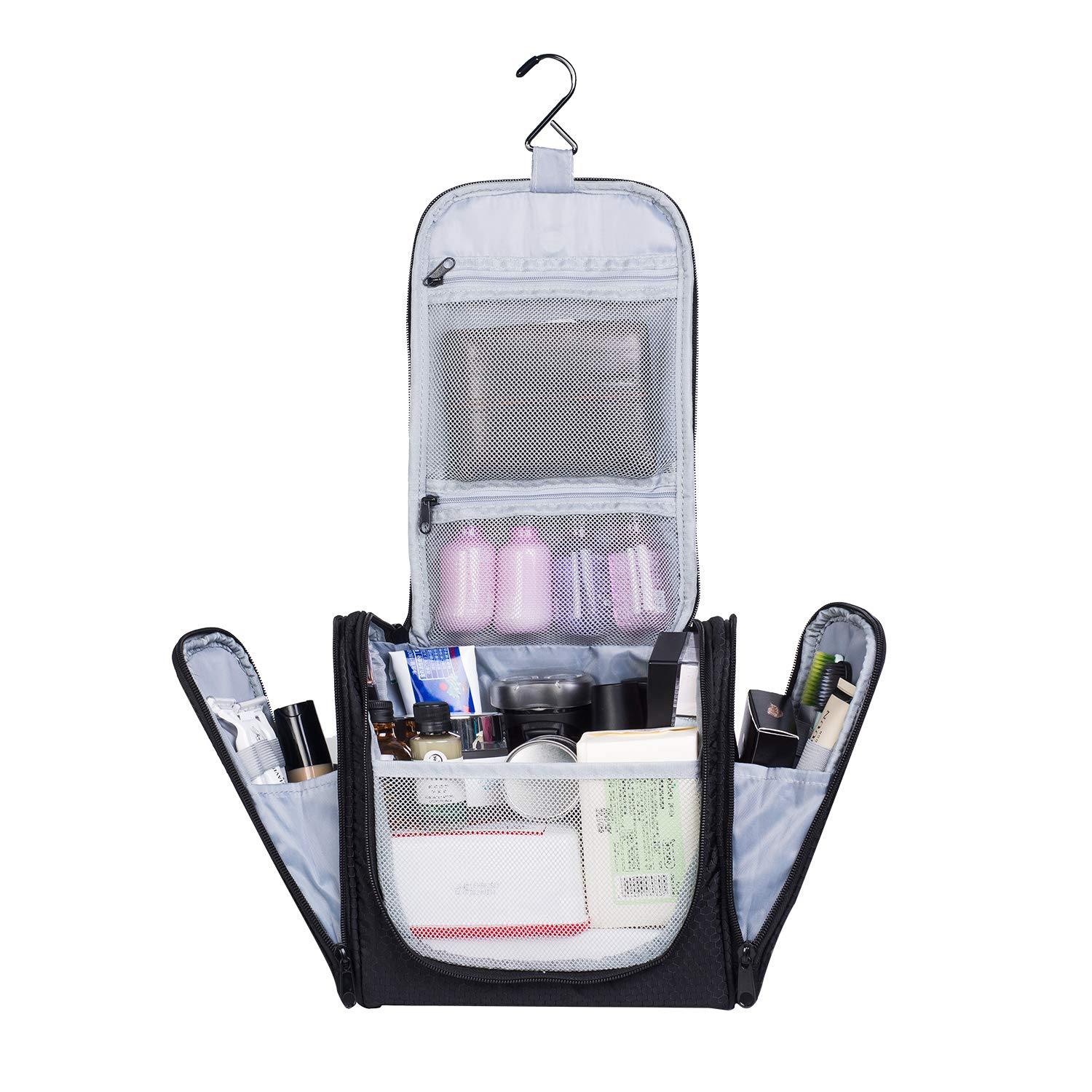 AUSQI Deluxe Hanging Toiletry Bag: Travel Toiletry Organizer Bag for Home, Trips, Hotel & Holidays|Personal Waterproof Zippered Luggage Toiletry Bag|Top Gifting Idea For Men & Women