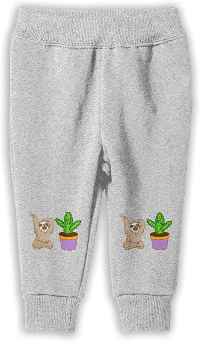 Soft Cozy Girls Boys Jogger Play Pant Udyi/&Jln-97 Happy Sloth Cactus Kids /& Toddler Pants