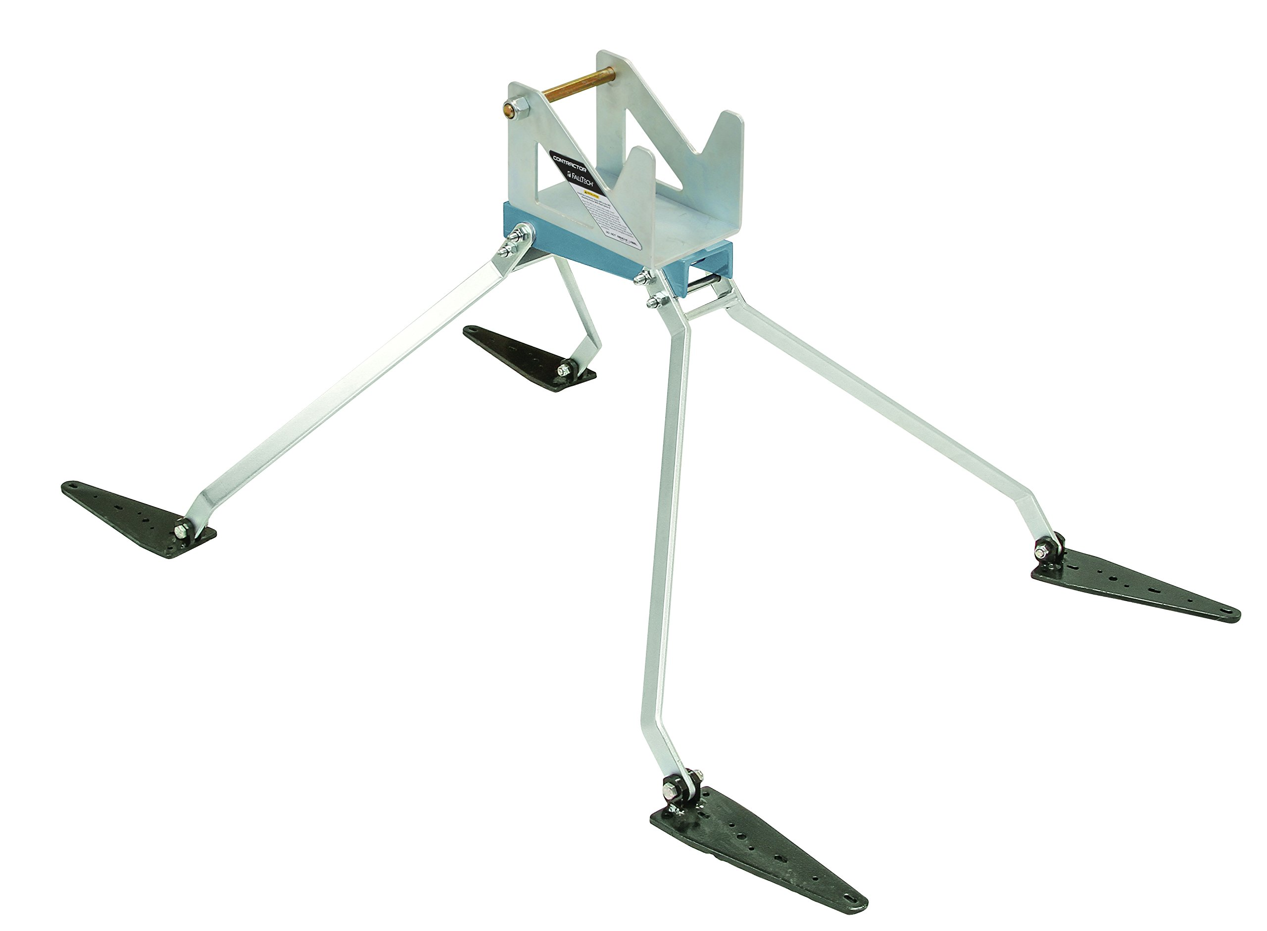 FallTech 7395E Contractor Rotating Elevated SRD Anchor - Rotating SRD Cradle, Adjustment Pads and Knobs, Zinc-plated Steel Legs, Includes Fasteners, Natural