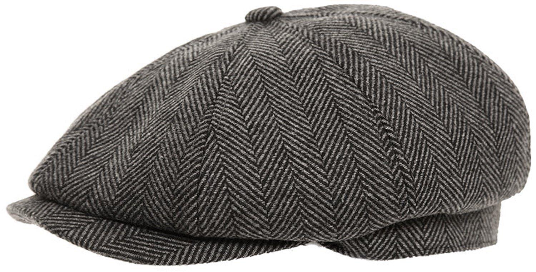 7acb6bcc53d3c Mens Baker Boy Fashion Cap Peaked Hat  Amazon.co.uk  Clothing