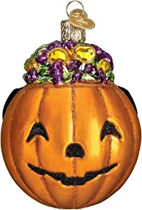 Old World Christmas Halloween Decorations Glass Blown Ornaments for Christmas Tree Trick-or-Treat
