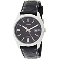 Casio Mens Automatic Watch, Analog Display and Leather Strap MTP-1302L-1AVDF