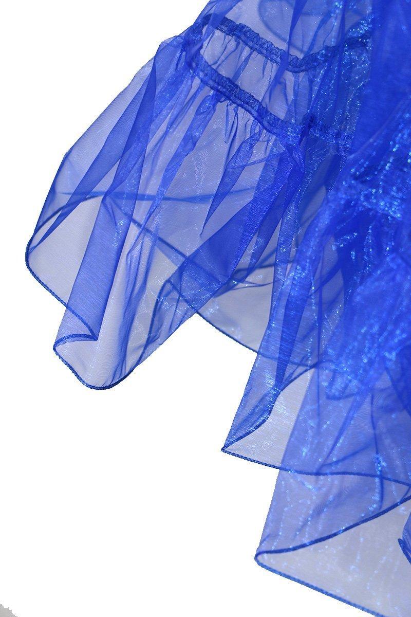 Dance Fairy Tutu enagua falda de crinolina rockabilly de los aos 50 de la vendimia azul S-M: Amazon.es: Deportes y aire libre