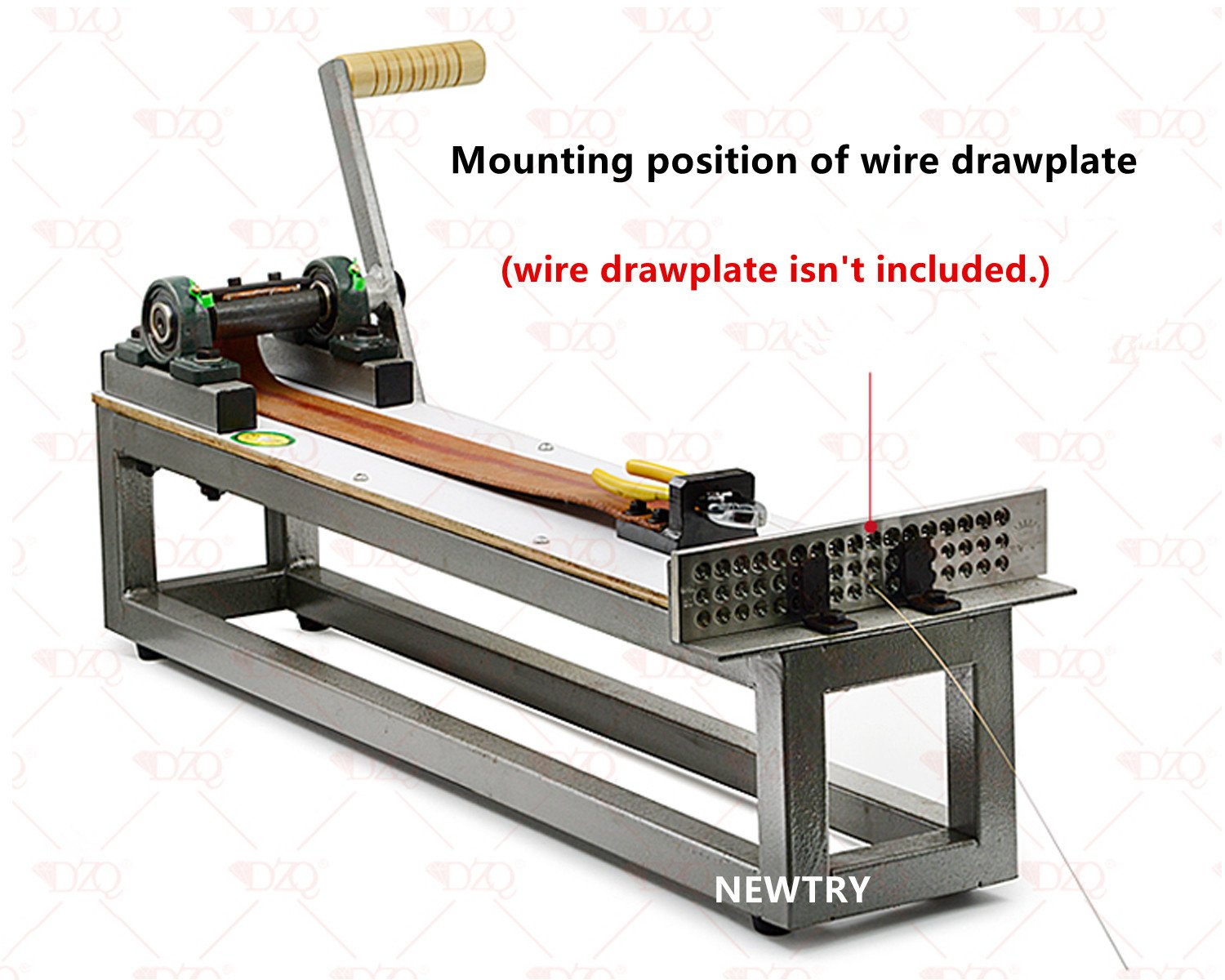 Excellent Newtry Manual Wire Drawing Bench Jewelry Making Wire Tool Machost Co Dining Chair Design Ideas Machostcouk