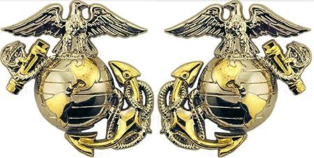 Left Pin United States Marine Corps USMC EGA Black Left Lapel Pin