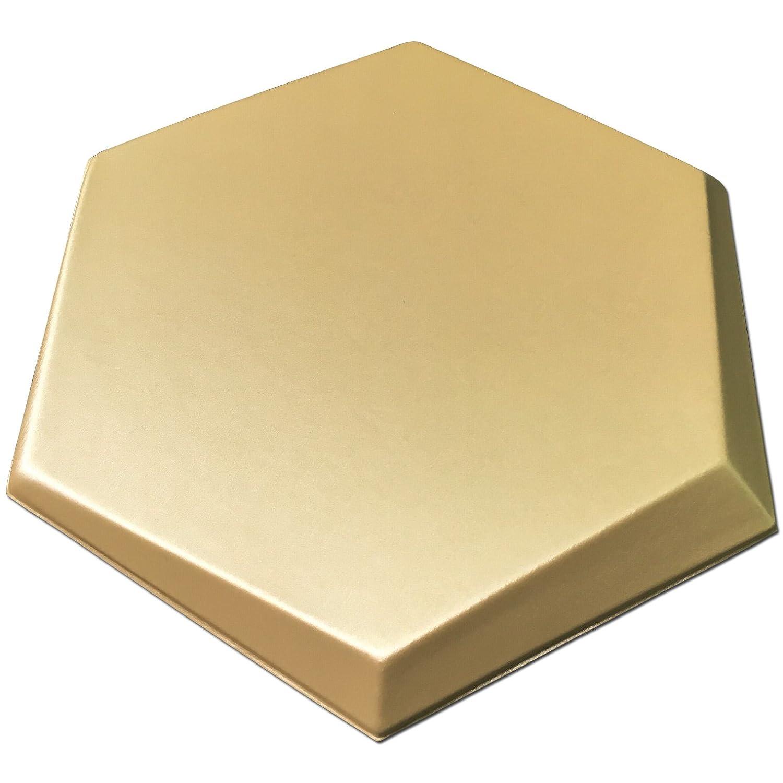 Amazon.com: Art3d Peel and Stick Faux Leather Tile, 3D Hexagon,Gold ...