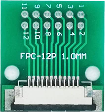 6P 6 Pins FPC to DIP Breakout Board 1.0mm pitch Pack of 2