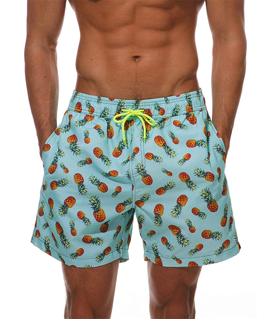 ESCATCH Swimming Trunks Men Surfing Waterproof Beach Shorts with Pockets