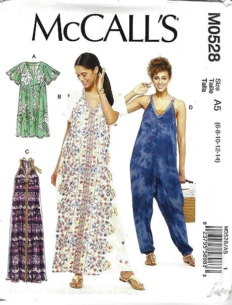 8 Styles McCalls Sewing Pattern 8861 Misses Dress /& Jumpsuit C 10 12 14