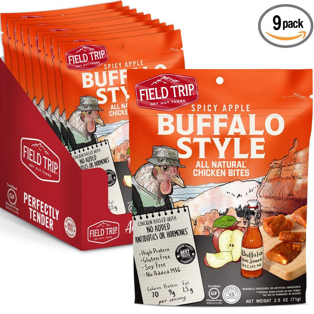 Field Trip Gluten Free, High Protein Chicken Jerky Bites, Spicy Buffalo Style, 9 Count