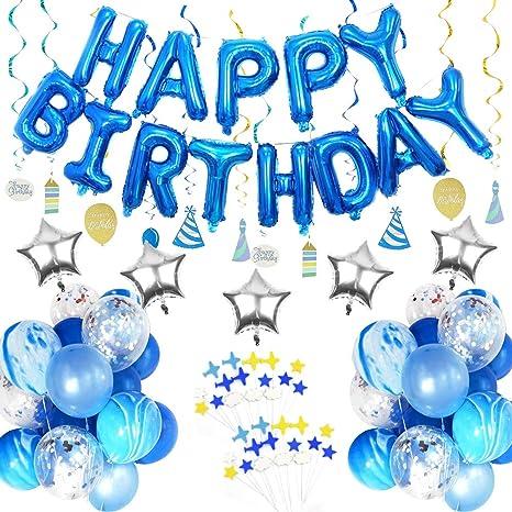 amazon com birthday party decoration set for boys includes happy