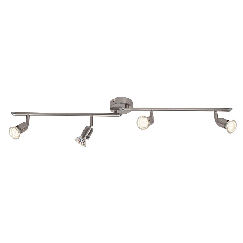 Brilliant Loona G28832/13 LED Spotlight Bar Rotating 4 Bulbs with 4 x LED GU10 2.5 W Bulb Iron [Energy Class A] Brilliant AG