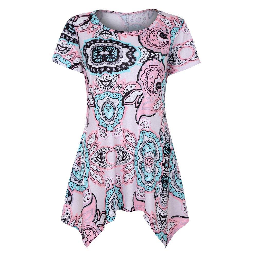 Darringls_camisetas para Mujer Verano,Camiseta del Sección Larga ...