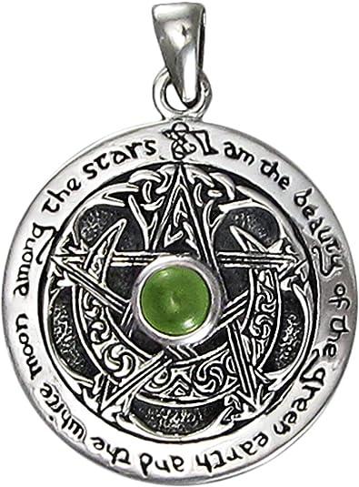 Moldavite Sterling Silver Goddess Pendant