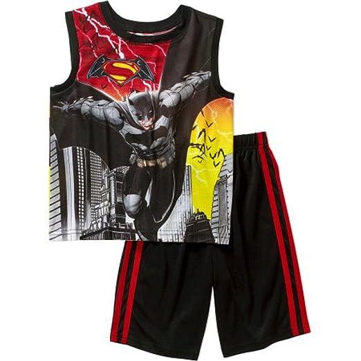 ce48e2fe393e7 DC Comics Batman Versus Superman Big  Boys Shorts Pajamas Set Dawn of  Justice (4