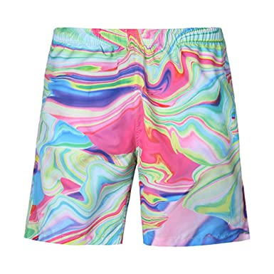 4d0c9fa559017 ZHANGJZJ Novelty Men's Woven Bags Pattern Beach Pants Men 3D Printed Board  Shorts M-3XL