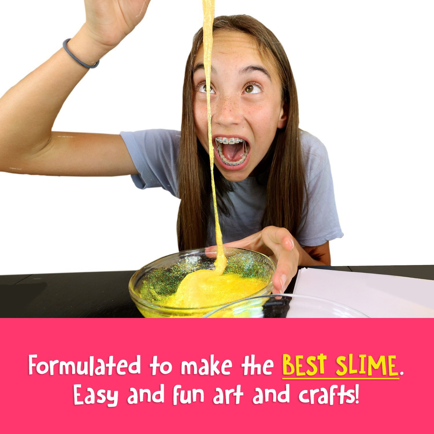 Ultimate Slime Kit Supplies Stuff for Girls and Boys Making Slime [EVERYTHING IN ONE BOX] Kids can Make Unicorn, Glitter, Cloud, Rainbow Slimes and More. Includes Glue and Full instructions. by Original Stationery (Image #6)