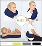 The Original FLEXi 4-in-1 Convertible Travel Pillow for Side, Stomach and Back Sleepers. Lumbar Support. Features Adjustable Strap and Travel Bag. Four colors. Washable. (Navy)