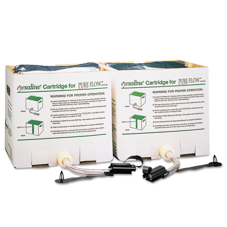 Honeywell 2-Piece Saline Cartridge Set for Fendall Pure Flow 1000 Emergency Eyewash Station by Honeywell