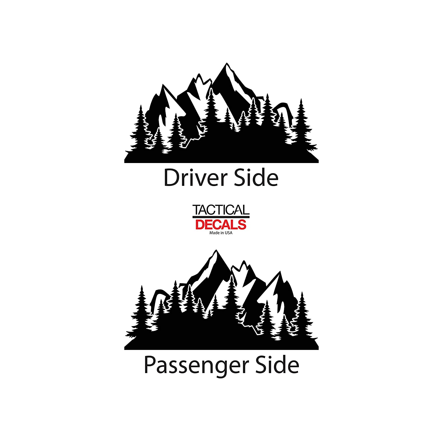 Outdoors Mountain Scene Decals For 2015-2020 Chevy Tahoe Custom Design MX1-CT2.A 3rd Windows