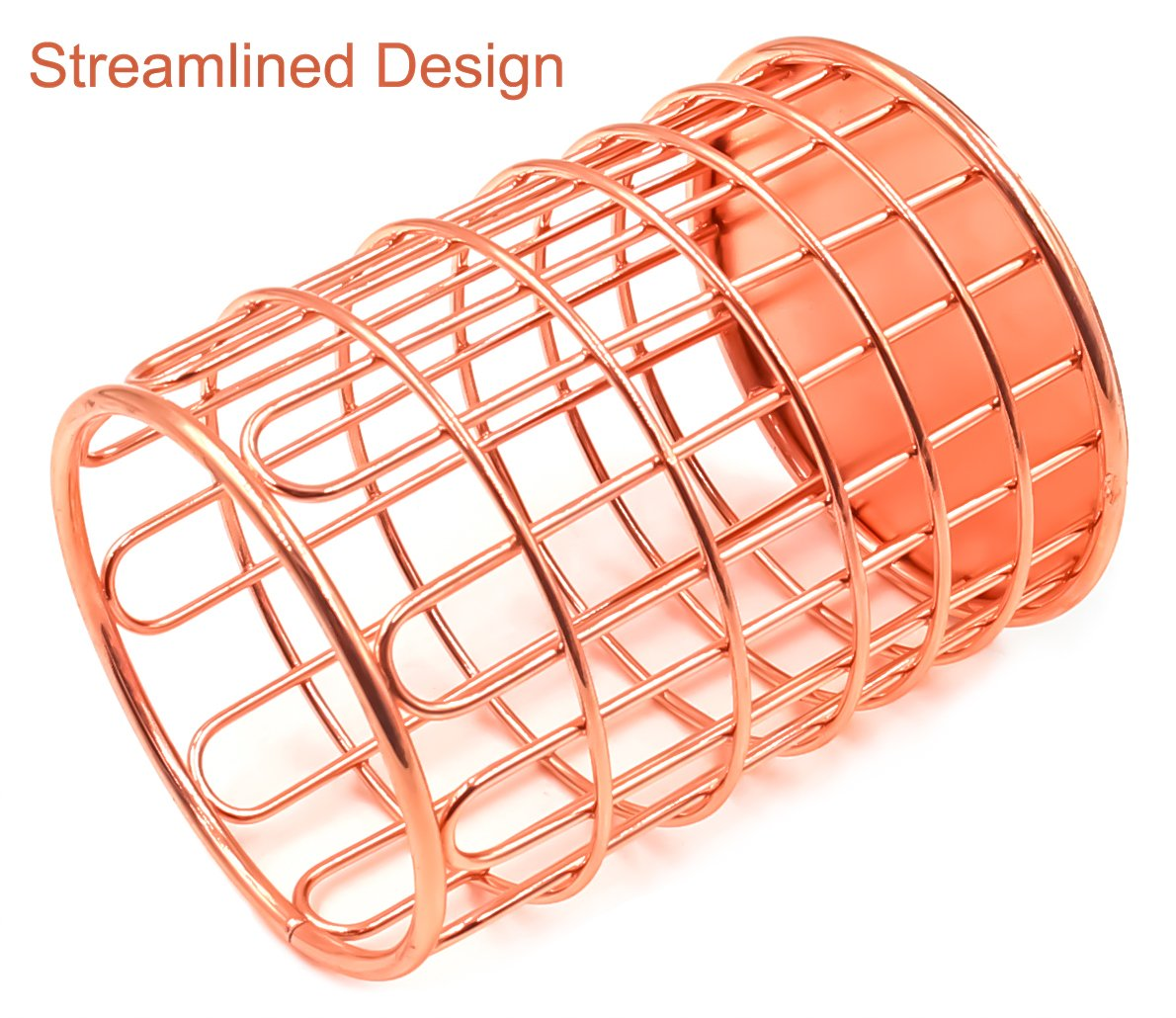 Superbpag Wire Metal Desktop Pencil Holder, Set of 2, Rose Gold by Superbpag (Image #5)