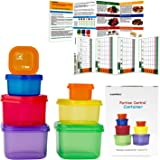 7 Piece Portion Control Container Set for Weight Loss - Portion Control Kit for Diet Meal Preparation - Comparable to 21 Day Fix - GAINWELL