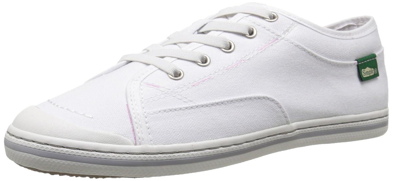 Simple Women's Satire Fashion Sneaker B019TEMV2W 8 B(M) US White Soft Pre-wash Canvas