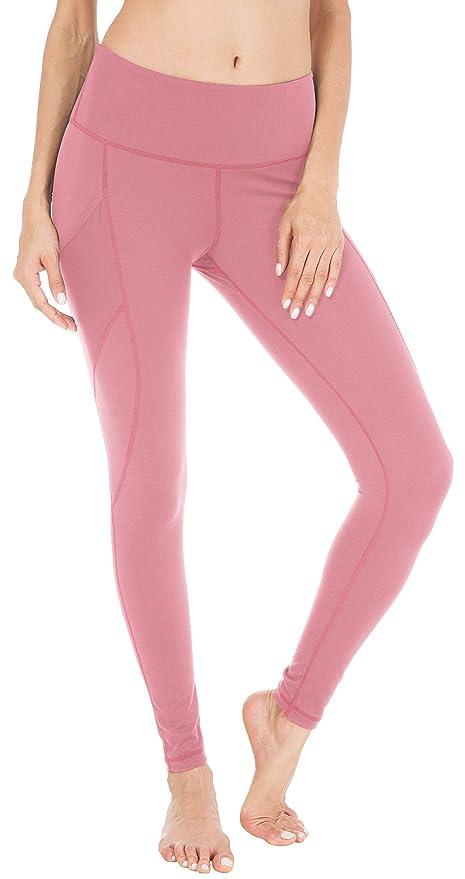 c1e1904c12 QUEENIEKE Women Yoga Leggings Power Flex Mesh High Waist 3 Phone Pocket Gym  Running Tights  Amazon.com.au  Fashion