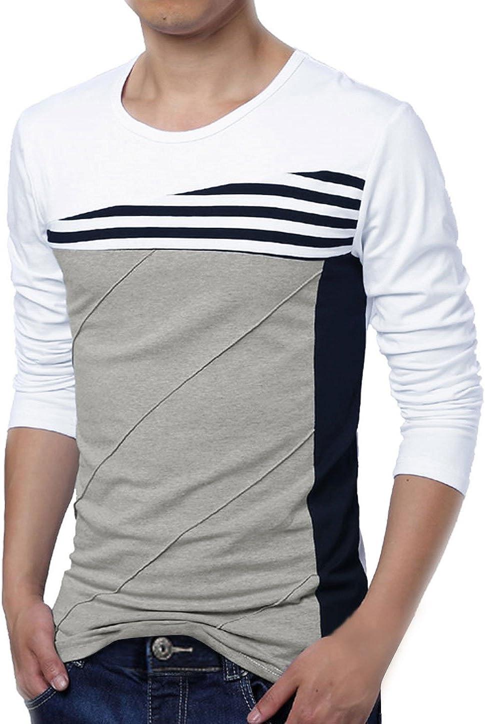 Allegra K Hombre Bloque Color Rayas camiseta