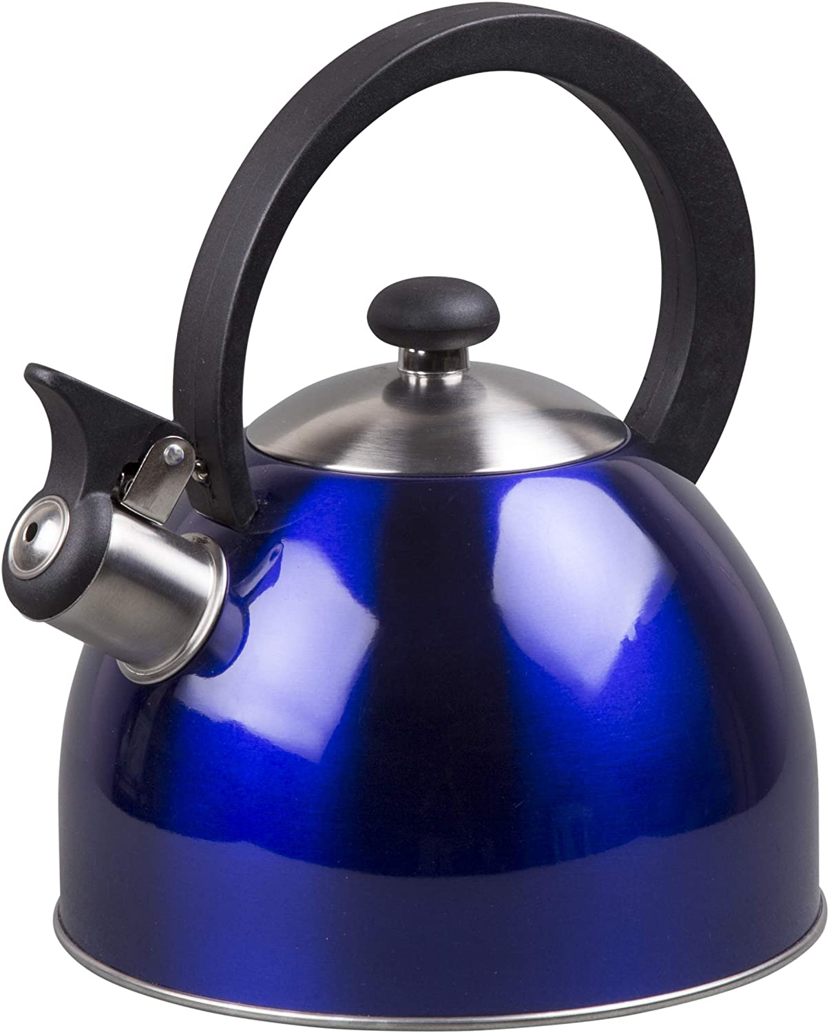 Creative Home Prelude 2.1 Qt Stainless Steel Whistling Tea Kettle - Metallic Blue