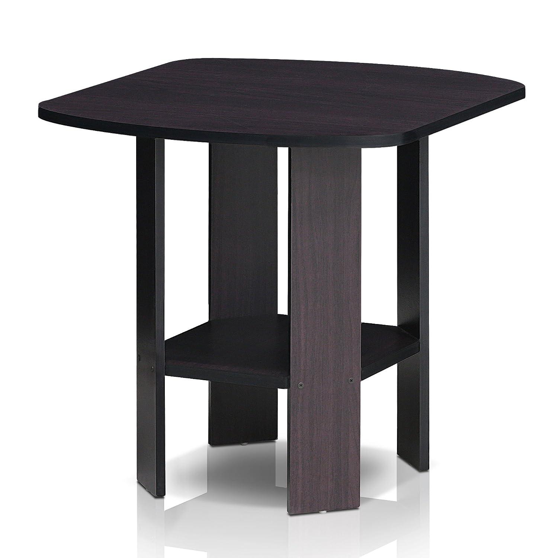 Madera 1 End Table Furinno Columbia Walnut//Black