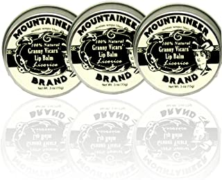 product image for 3 Pack Lip Balm by Mountaineer Brand, Licorice Flavor-Made with Beeswax and 100% Natural Ingredients: 1/2 ounce screw top tins