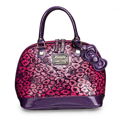6ee47a1a36 Loungefly Hello Kitty Pink Leopard Embossed Bag SANTB1067  Handbags   Amazon.com