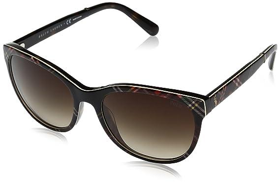 5c3e4c287675 Polo Ralph Lauren Women's Acetate Woman Sunglass Wayfarer, Black Tartan, ...