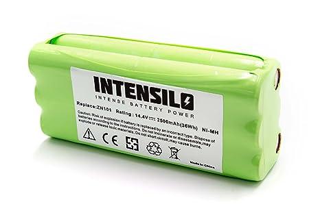 INTENSILO NiMH batería 2500mAh (14.4V) para Robot limpiasuelos ...
