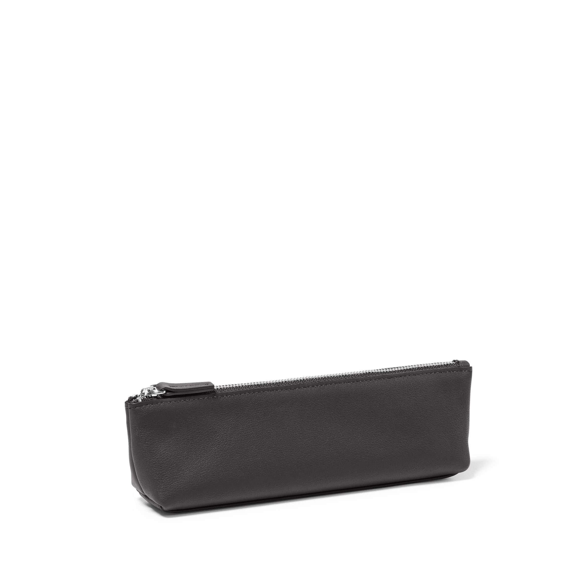 Pencil Case - Full Grain Leather Leather - Black Onyx (Black)