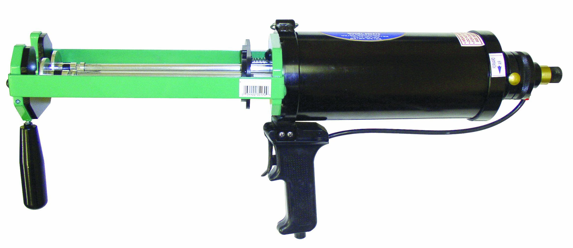 Newborn 850A30 Dual-Component Pneumatic Applicator, 4'' Cylinder, for 300 mL x 300 mL Cartridges, 100 psi
