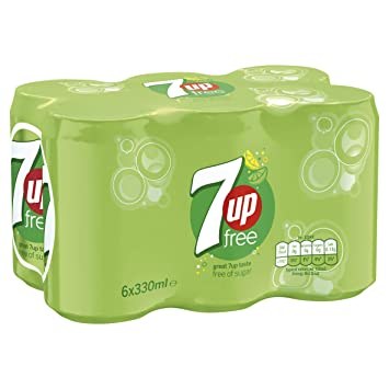 7UP Free Sparkling Lemon and Lime Drink Cans, 6 x 330 ml: Amazon co