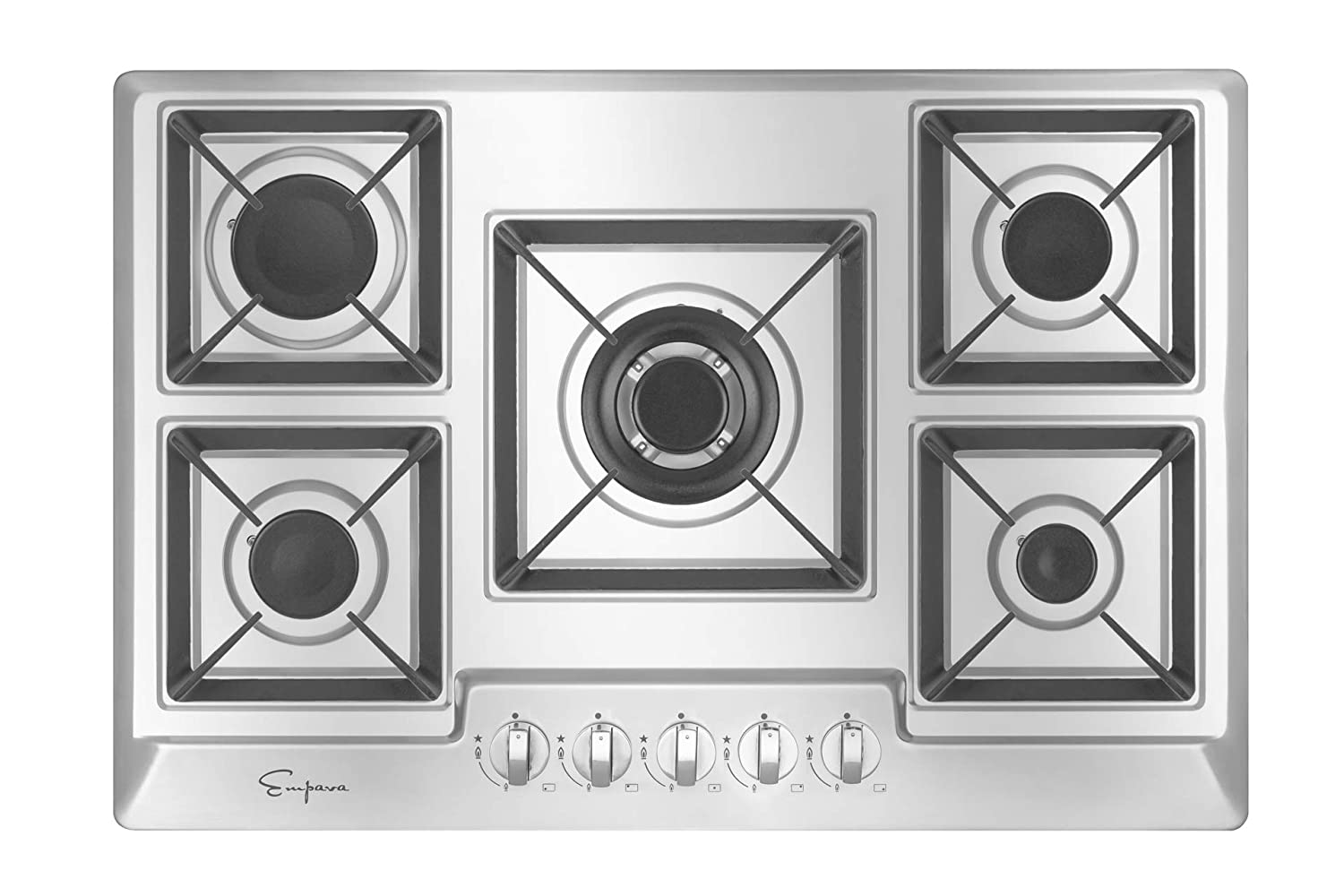 "Empava 30"" Stainless Steel 5 Italy Sabaf Burners Stove Top Gas Cooktop EMPV-30GC0A2"