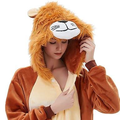 10b8cea06d9f ABENCA Zip up Fleece Onesie Pajamas for Women Adult Cartoon Animal  Christmas Halloween Cosplay Onepiece Costume