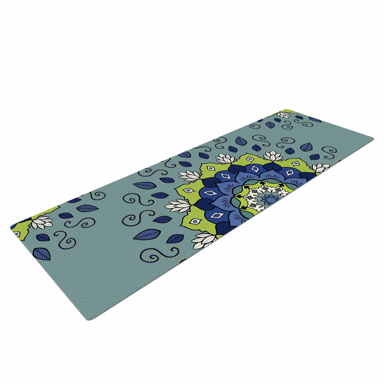 72 X 24 72 X 24 KESS Global Inc CB2017AYM01 Kess InHouse Cristina Bianco Design Blue /& Green Mandala Blue Geometric Yoga Mat