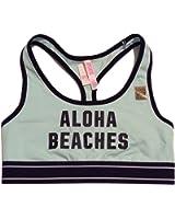 Victoria's Secret PINK! Aloha Beaches Racerback Bra Mint
