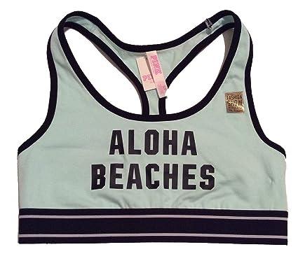 548520cfc43e1 Victoria s Secret PINK! Aloha Beaches Racerback Bra Mint at Amazon ...