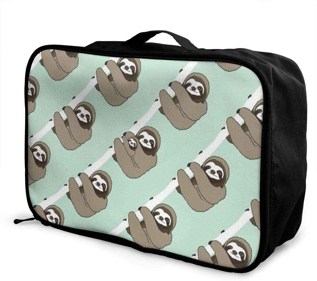 Sloth Cute Travel Carry-on Luggage Weekender Bag Overnight Tote Flight Duffel In Trolley Handle