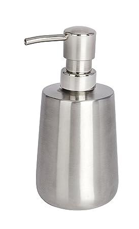 Wenko Solid Dosificador Jabón, Acero Inoxidable, Plata, 9x8x16 cm: Amazon.es: Hogar