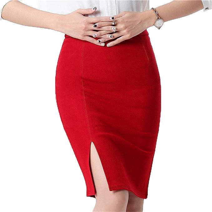 2f1ccd1f42850c Doris Batchelor Elegant Women Skirt High Waist Work Slim Pencil Skirt Open  Fork Sexy Office Lady